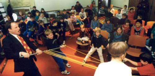 Tug of War at a Science School Assembly